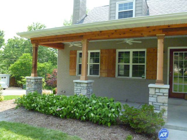 Kirkwood front porch, outdoor spaces